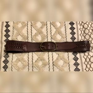 Genuine Leather Woven Belt